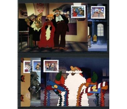 İSVEÇ 2002 CHRISTMAS TAM SERİ 5 KARTMAX (040515)