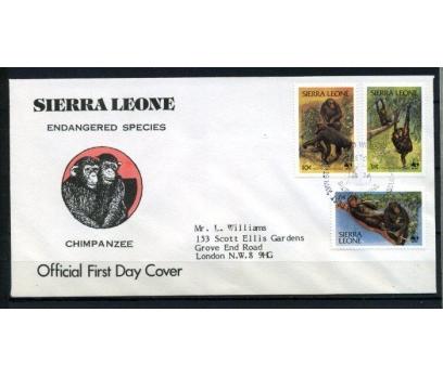 SİERRA LEONE FDC 1983 ŞEMPANZELER SÜPER (070515)