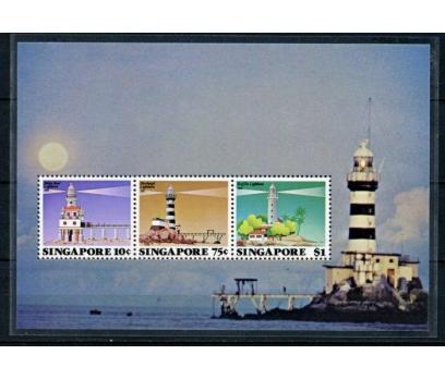 SİNGAPUR ** 1982 DENİZ FENERLERİ BLOK (020515)