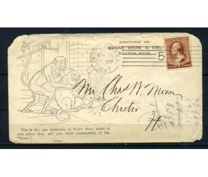 ABD 1887 PGZ  KARİKATÜRLÜ ZARF SÜPER (150515)