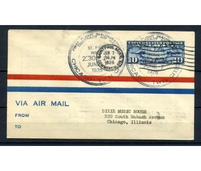 ABD 1926 Ö.D. CHİCAGO-TWIN CITIES İLK UÇUŞ(150515)