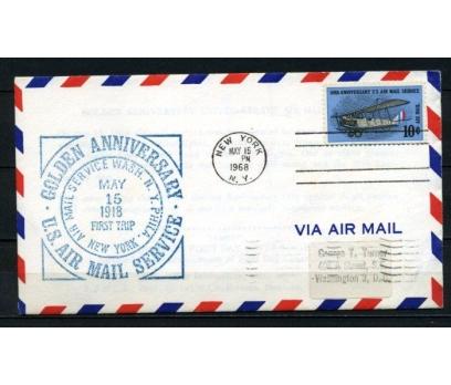 ABD 1968 Ö.D.  U.S.AIRMAIL 50.YIL SÜPER (150515)