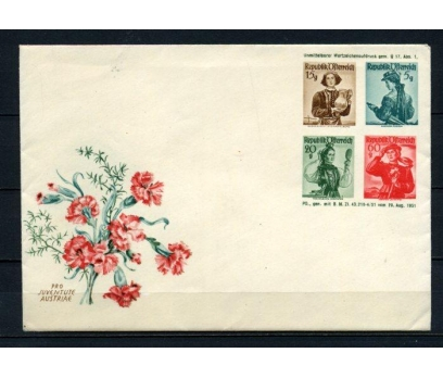 AVUSTURYA 1951 KIYAFETLER MEKTUP ANTİYE(100515) 2