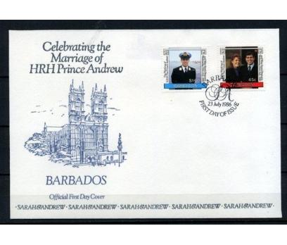BARBADOS 1986 FDC PRENS ANDREW'İN DÜĞÜNÜ (180515)