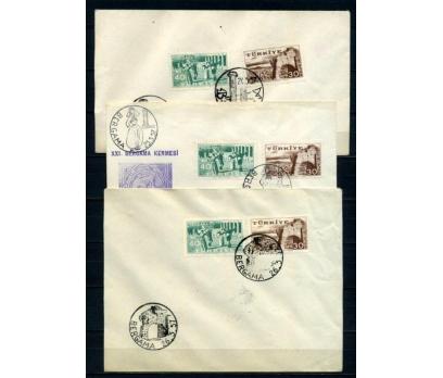 CUMH.FDC 1956 BERGAMA KERMESİ 3 ZARFTA (210515)