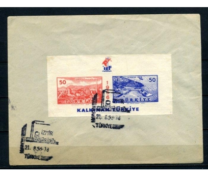 CUMH.FDC 1956 İZMİR FUARI BLOK SÜPER  (210515)
