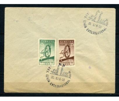 CUMH.FDC 1956 İZMİR FUARI SÜPER  (210515)