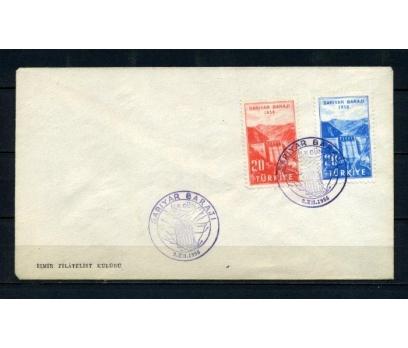 CUMH.FDC 1956 SARIYAR BARAJI SÜPER (210515)