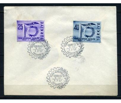 CUMH.FDC 1957 TÜRK-AMERİKAN İŞBİRL. SÜPER (210515)