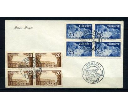 CUMH.FDC 1958 PAMUKKALE TURİSTİK DBL SÜPER(210515)