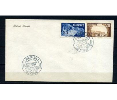 CUMH.FDC 1958 PAMUKKALE TURİSTİK SÜPER (210515) 1