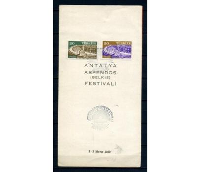 CUMH.FDC 1959 ASPENDOS FESTİVALİ SÜPER (210515)