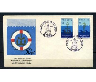CUMH.FDC 1959 Y.DENİZCİLİK O.50 Y. SÜPER (210515) 1