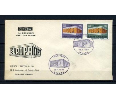 CUMH.FDC 1969 EUROPA CEPT AKOBA SÜPER (190515)