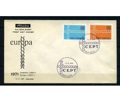CUMH.FDC 1971 EUROPA CEPT AKOBA SÜPER (200515)