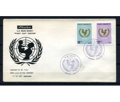 CUMH.FDC 1971 UNICEF'İN 25.Y. AKOBA SÜPER (200515)