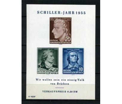 DDR ** 1955 YAZAR F.SCHİLLER BLOK SÜPER(120515)