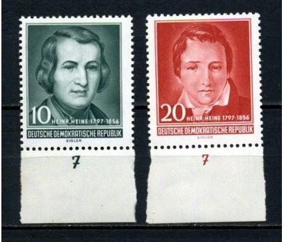 DDR ** 1956 YAZAR H.HEİNE TAM SERİ SÜPER (120515)