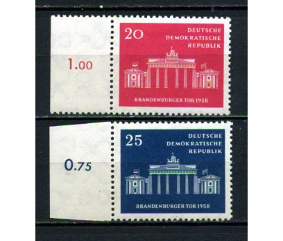 DDR ** 1958 BRANDENBURGER KAPISI TAM SERİ (130515)