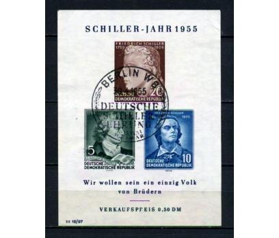 DDR İGD 1955 YAZAR F.SCHİLLER BLOK SÜPER(120515)