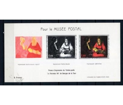 FRANSA ** 1966 TABLO & TOUR  PROOF BLOK  (230515)