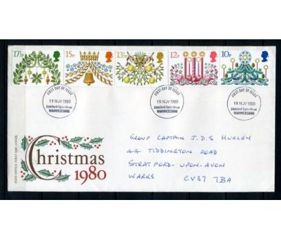 İNGİLTERE 1980 FDC CHRISTMAS TAM SERİ (140515)