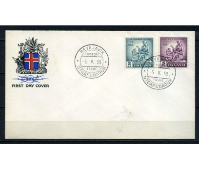 İZLANDA FDC 1958 TORKİLLİUS SÜPER (100515)