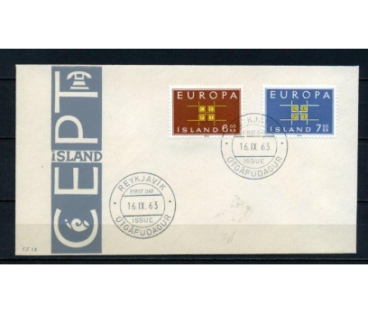 İZLANDA FDC 1963 EUROPA CEPT SÜPER (100515)