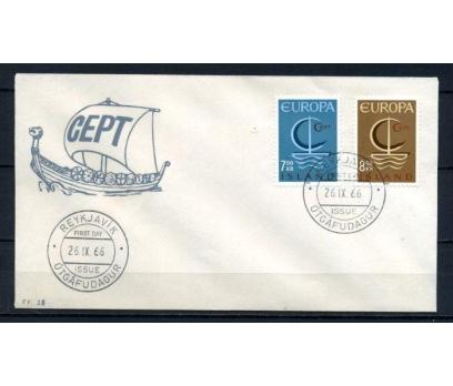İZLANDA FDC 1966 EUROPA CEPT SÜPER (100515)