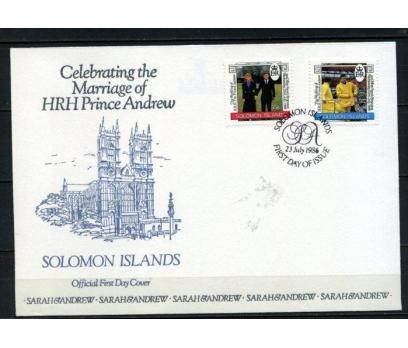 SOLOMON AD.1986 FDC PRENS ANDREW'İN DÜĞ.(180515)