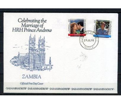 ZAMBİA 1986 FDC PRENS ANDREW'İN DÜĞÜNÜ  (180515)