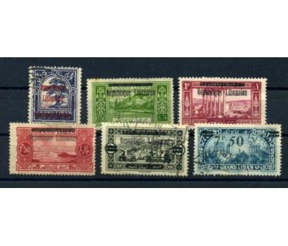 LÜBNAN  DAMG. 1927 SÜR. SERİ 6 VALÖR SÜPER(010615)