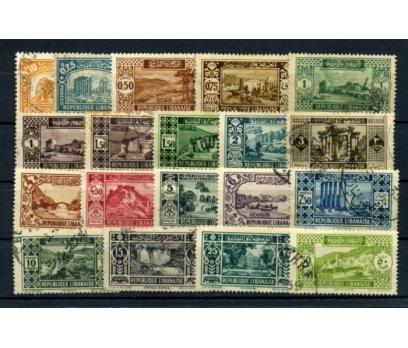 LÜBNAN DAMGALI 1930 KLASİK SERİ 19 VALÖR (010615)