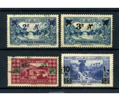 LÜBNAN DAMGALI 1943-45 SÜRŞ. 4 VALÖR SÜPER(010615)