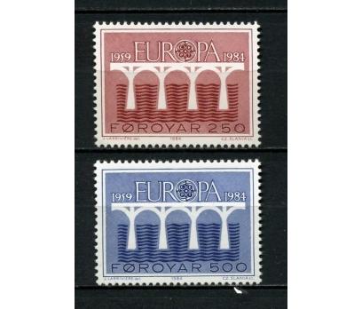 FAROE AD. ** 1984 EUROPA CEPT TAM SERİ (120615)