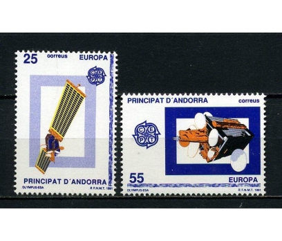 İSP.ANDORRA ** 1991 EUROPA CEPT TAM SERİ (250615)