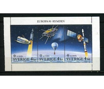 İSVEÇ ** 1991 EUROPA CEPT BLOK SÜPER (250615)