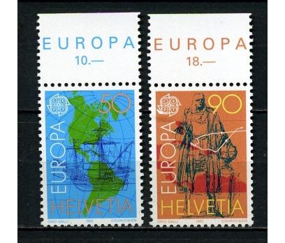 İSVİÇRE ** 1992 EUROPA CEPT TAM SERİ(260615)