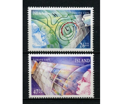 İZLANDA ** 1991 EUROPA CEPT TAM SERİ (250615)