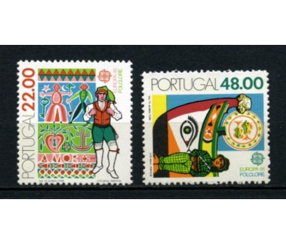 PORTEKİZ ** 1981 EUROPA CEPT TAM SERİ(110615)