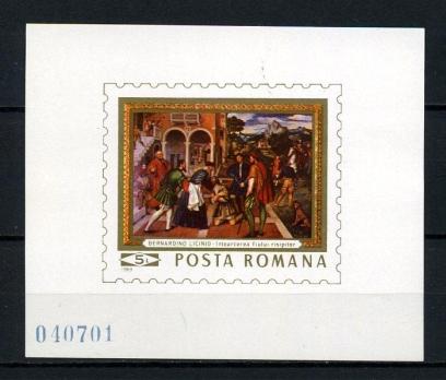 ROMANYA  **  1969 TABLO BLOK SÜPER (150615)