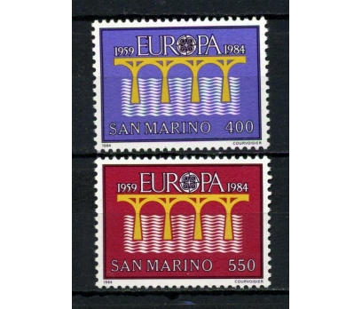 SAN MARİNO ** 1984 EUROPA CEPT TAM SERİ (130615)