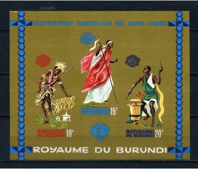 BURUNDİ ** 1964 YEREL DANSLAR BLOK D.SİZ (040715)