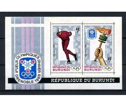 BURUNDİ ** 1968 GRENOBLE BLOK DANTELLİ  (050715)