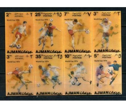 AJMAN ** 1972 FUTBOL 3 BOYUTLU TAM SERİ   (140715)