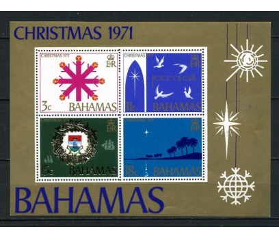 BAHAMA ** 1971 CHRISTMAS BLOK (140715)