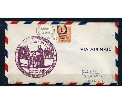 ABD 1924 FEDERAL HALL FDC SÜPER (210715)