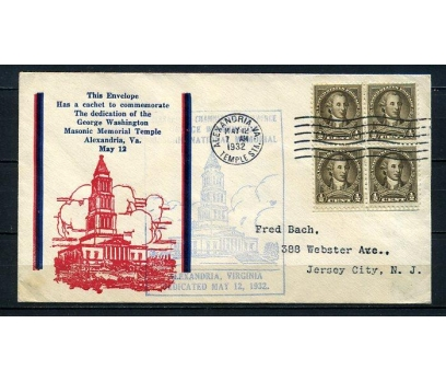 ABD 1932 G.WASHINGTON FDC SÜPER (210715)
