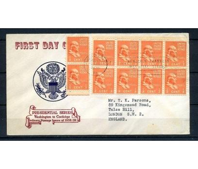 ABD 1938 FDC BENJAMİN FRANKLİN SÜPER (210715)