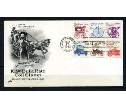 ABD 1982 FDC 1890 'LAR TAŞITLAR SÜPER (220715)